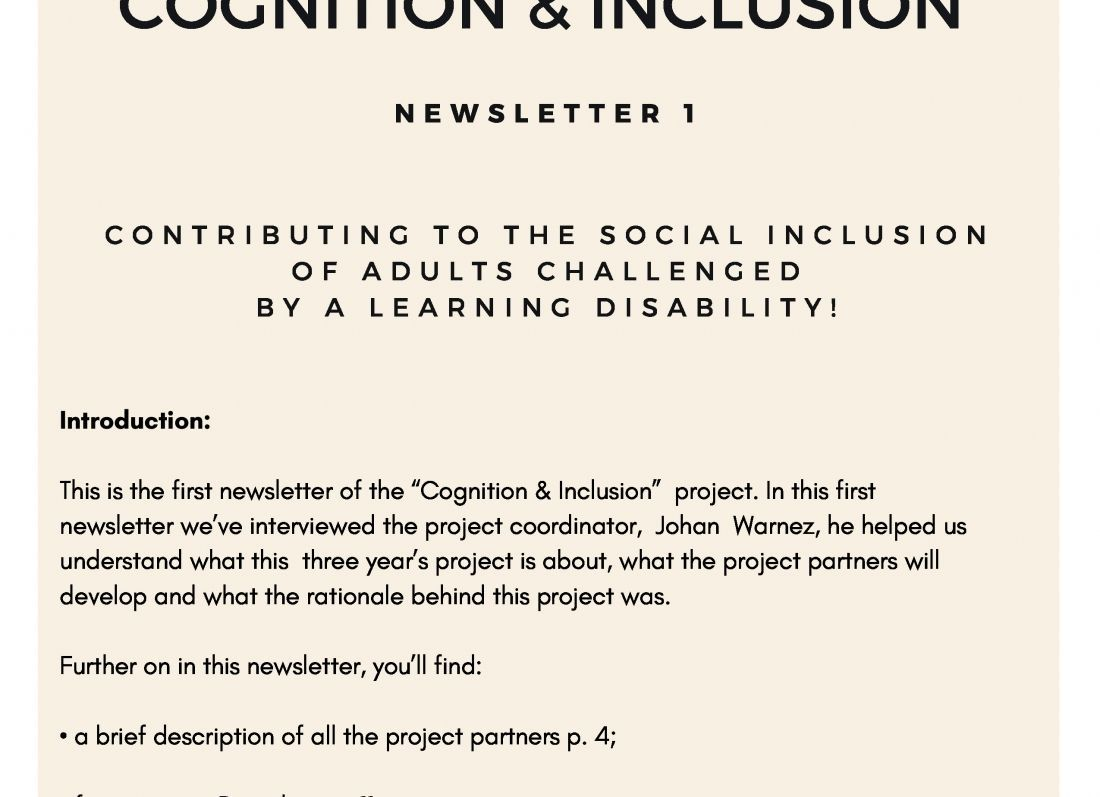 """Proyecto Europeo """"COGNITION & INCLUSION"""""""